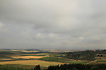 Israel, Shephelah, a view of Ayalon valley from Eshtaol forest