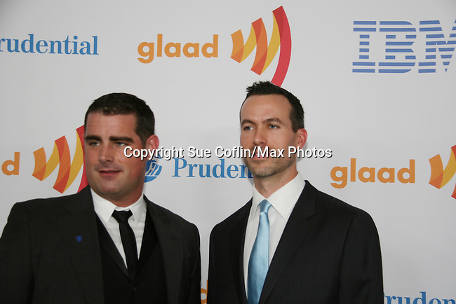Brian Sims & Cyd Zeigler at the 21st Annual GLAAD Media Awards on March 13, 2010 at the New York Marriott Marquis, New York City, NY. (Photo by Sue Coflin/Max Photos)