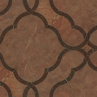 Dorothy, a stone water jet mosaic, shown in Aegean Brown and Rojo Alicante, is part of the Ann Sacks Beau Monde collection sold exclusively at www.annsacks.com