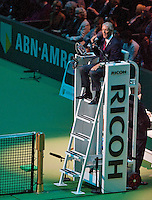 Februari 15, 2015, Netherlands, Rotterdam, Ahoy, ABN AMRO World Tennis Tournament, Gerry Armstrong finals Referee<br /> Photo: Tennisimages/Henk Koster