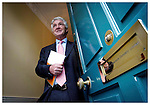 Sean Fitzpatrick, Group Chief Executive Anglo Irish Bank, pictured here today at the Companies Interim Results for the Six months Ended 31st March 2003 held in Dublin. Pic. Robbie Reynolds