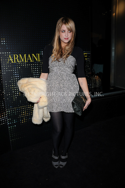 WWW.ACEPIXS.COM . . . . . ....February 17 2009, New York City....Peaches Geldof arriving for the opening of the new Armani 5th Avenue store on February 17, 2009 in New York City.....Please byline: KRISTIN CALLAHAN - ACEPIXS.COM.. . . . . . ..Ace Pictures, Inc:  ..tel: (212) 243 8787 or (646) 769 0430..e-mail: info@acepixs.com..web: http://www.acepixs.com