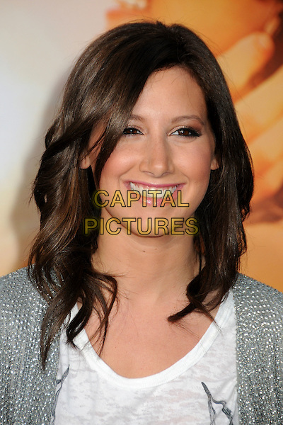 "ASHLEY TISDALE .""The Last Song"" World Premiere held at Arclight Cinemas, Hollywood, California, USA, 25th March 2010..arrivals portrait headshot grey gray white   silver pink lipstick make-up wavy hair bob smiling .CAP/ADM/BP.©Byron Purvis/AdMedia/Capital Pictures."