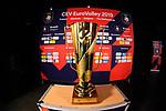 13.09.2019, Paleis 12, BrŸssel / Bruessel<br />Volleyball, Europameisterschaft, Belgien (BEL) vs. …sterreich / Oesterreich (AUT)<br /><br />Feature Pokal / Trophy<br /><br />  Foto © nordphoto / Kurth