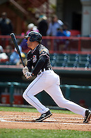 Erie Seawolves third baseman Wade Gaynor (37) at bat during a game against the Richmond Flying Squirrels on May 20, 2015 at Jerry Uht Park in Erie, Pennsylvania.  Erie defeated Richmond 5-2.  (Mike Janes/Four Seam Images)