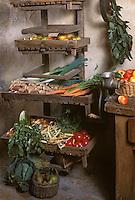 Europe/France/Centre/45/Loiret/La Ferté-Saint-Aubin: Fruits et légumes dans le garde-manger du Château