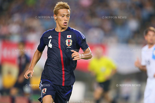 Keisuke Honda (JPN), AUGUST 14, 2013 - Football / Soccer : <br /> KIRIN Challenge Cup 2013 match <br /> between Japan 2-4 Uruguay <br /> at Miyagi Stadium, Miyagi, Japan.<br />  (Photo by AFLO SPORT)