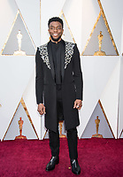 Chadwick Boseman arrives on the red carpet of The 90th Oscars&reg; at the Dolby&reg; Theatre in Hollywood, CA on Sunday, March 4, 2018.<br /> *Editorial Use Only*<br /> CAP/PLF/AMPAS<br /> Supplied by Capital Pictures