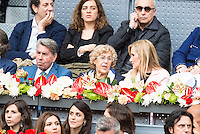 Manolo Santana, Madrid Mayor Manuela Carmena and president of the community, Cristina Cifuentes during  TPA Finals Mutua Madrid Open Tennis 2016 in Madrid, May 08, 2016. (ALTERPHOTOS/BorjaB.Hojas) /NortePhoto.com