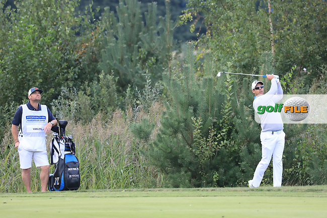 Jaco Van Zyl (RSA) during the second round of the Porsche European Open , Green Eagle Golf Club, Hamburg, Germany. 06/09/2019<br /> Picture: Golffile | Phil Inglis<br /> <br /> <br /> All photo usage must carry mandatory copyright credit (© Golffile | Phil Inglis)