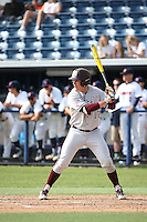 Joel Davis (17) of the Texas A&M Aggies bats against the Pepperdine Waves at Eddy D. Field Stadium on February 26, 2016 in Malibu, California. Pepperdine defeated Texas A&M, 7-5. (Larry Goren/Four Seam Images)