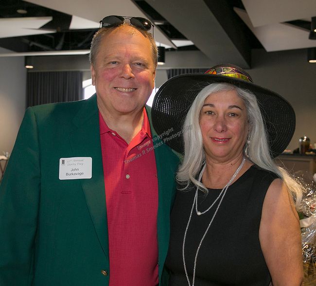 John and Mercedes Burkavage during the Derby Day fundraiser for the Reno Chamber Orchestra at the Renaissance Reno on Saturday, May 4, 2019.