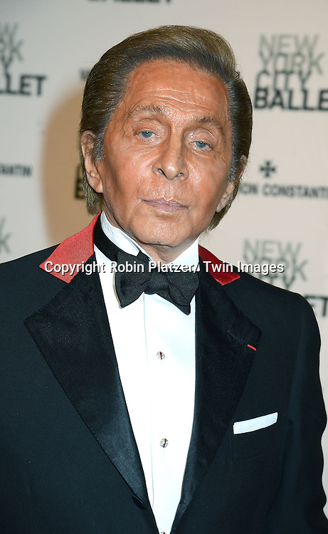 Valentino attends the New York City Ballet Spring 2014 Gala on May 8, 2014 at David Koch Theatre in Lincoln Center in New York City, NY, USA.