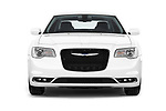 Car photography straight front view of a 2018 Chrysler 300 Limited 4 Door Sedan