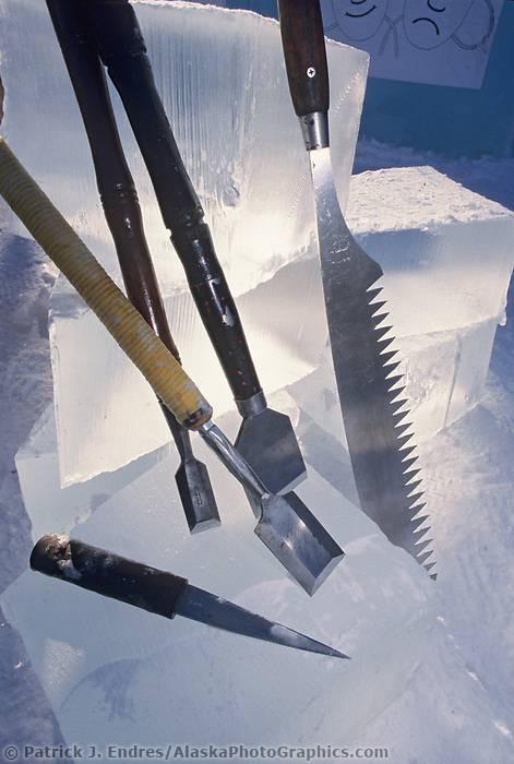 Ice sculpting chisels used during the World Ice Art Championships held each march in Fairbanks, Alaska,