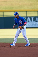 AZL Cubs 1 second baseman Oswaldo Pina (60) during an Arizona League game against the AZL Athletics Gold at Sloan Park on June 20, 2019 in Mesa, Arizona. AZL Athletics Gold defeated AZL Cubs 1 21-3. (Zachary Lucy/Four Seam Images)