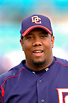 14 March 2006: Livan Hernandez, pitcher for the Washington Nationals, returns to the dugout during a Spring Training game against the Florida Marlins. The Marlins defeated the Nationals 2-1 at Space Coast Stadium, in Viera, Florida...Mandatory Photo Credit: Ed Wolfstein..