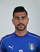 FLORENCE, ITALY - JUNE 01:  Graziano Pelle of Italy poses for a photo ahead of the UEFA Euro 2016 at Coverciano on June 1, 2016 in Florence, Italy.  Foto Claudio Villa/FIGC Press Office/Insidefoto