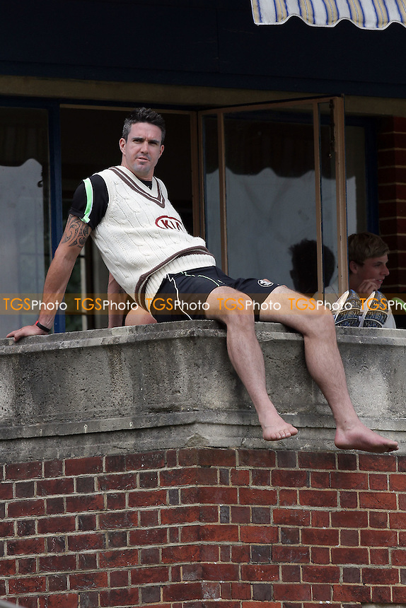 Kevin Pietersen of Surrey sits on the home dressing room balcony at Whitgift School - Surrey CCC vs Essex CCC - LV County Championship Division Two Cricket at Whitgift School - 20/05/11 - MANDATORY CREDIT: Gavin Ellis/TGSPHOTO - Self billing applies where appropriate - Tel: 0845 094 6026