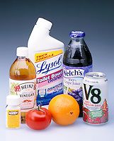 ACIDS IN COMMON HOUSEHOLD PRODUCTS<br /> An Acid Is A Water Soluble, SourTasting Compound<br /> It is a substance that dissociates a H+ ion & increases the concentration of H+ ions in aq. solutions.  It is considered a proton donor. Common properties are prickling sensation produced on skin & ability to dissolve metals & carbonate minerals