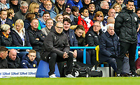 Leeds United manager Marcelo Bielsa watches on during the first half<br /> <br /> Photographer Alex Dodd/CameraSport<br /> <br /> The EFL Sky Bet Championship - Leeds United v Brentford - Saturday 6th October 2018 - Elland Road - Leeds<br /> <br /> World Copyright &copy; 2018 CameraSport. All rights reserved. 43 Linden Ave. Countesthorpe. Leicester. England. LE8 5PG - Tel: +44 (0) 116 277 4147 - admin@camerasport.com - www.camerasport.com