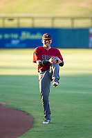 AZL Diamondbacks Jancarlos Cintron (6) warms up in the outfield prior to the game against the AZL Cubs on August 11, 2017 at Sloan Park in Mesa, Arizona. AZL Cubs defeated the AZL Diamondbacks 7-3. (Zachary Lucy/Four Seam Images)