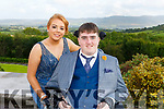 Ian O'Connell and Shauna O'Leary (Kilcummin) at the Killarney Community College, St. Brendan's and St. Bridget's School debs in the Ballyroe Heights hotel on Monday night.