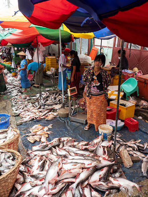The open market in Mandalay, Myanmar