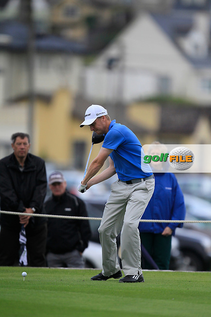 Simon Ward (Co. Louth) on the 19th hole during the South of Ireland Amateur Open Championship Final at Lahinch Golf Club  31st July 2013 <br /> Picture:  Thos Caffrey / www.golffile.ie