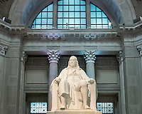 Benjamin Franklin statue at the Franlin Institute.