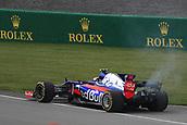 June 9th 2017, Montreal, Canada; Formula 1 Grand prix of Canada, Free practise day;  Carlos Sainz - Scuderia Toro Rosso STR12 retires during Practice 1