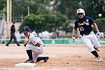 #27 Mitsuura Sakura of Japan (L) in action during the BFA Women's Baseball Asian Cup match between Japan and Hong Kong at Sai Tso Wan Recreation Ground on September 5, 2017 in Hong Kong. Photo by Marcio Rodrigo Machado / Power Sport Images