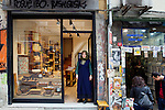 Istanbul - Turkey - 05 February 2015 -- Young entrepreneurs. -- Zeynep Toptas, 22, poses for a portrait in front of the Reklam Hizmetleri ( a wood and ceramic store)  -- PHOTO: Agata SKOWRONEK / EUP-IMAGES