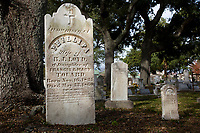 In the heart of downtown Pensacola, St. Michael's Cemetery has been a burial place for more than 200 years.<br /> <br /> COLIN HACKLEY PHOTO
