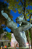 Freedom statue in Cruz Bay park<br />