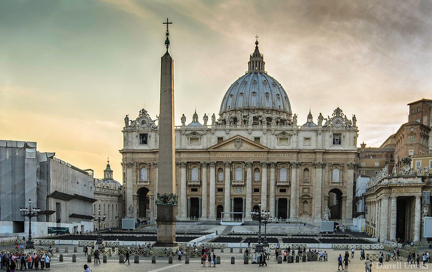 Fine Art Print Photograph. St. Peter's Square in Vatican City. Rome, Italy.<br />
