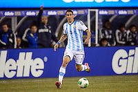 Argentina midfielder Angel Di Maria (7). Argentina and Ecuador played to a 0-0 tie during an international friendly at MetLife Stadium in East Rutherford, NJ, on November 15, 2013.