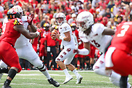 College Park, MD - September 15, 2018:  Temple Owls quarterback Anthony Russo (15) passes the ball during the game between Temple and Maryland at  Capital One Field at Maryland Stadium in College Park, MD.  (Photo by Elliott Brown/Media Images International)