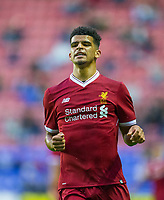 Dominic Solanke of Liverpool during the pre season friendly match between Wigan Athletic and Liverpool at the DW Stadium, Wigan, England on 14 July 2017. Photo by Andy Rowland.