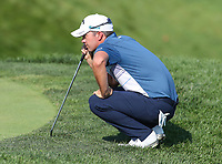 Potomac, MD - July 1, 2018: Ryan Blaum lines up his putt during final round at the Quicken Loans National Tournament at TPC Potomac  in Potomac, MD, July 1, 2018.  (Photo by Elliott Brown/Media Images International)