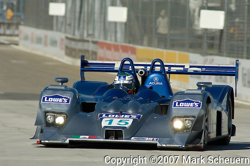 31 August 2007: The Lowe's Fernandez Racing  Lola B06-43/Acura driven by Adrian Fernandez (MEX) and Luis Diaz (MEX) at the Detroit Sports Car Challenge presented by Bosch, Detroit, MI