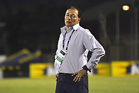 ENVIGADO- COLOMBIA, 4-08-2018.Rubén Bedoya director técnico del Envigado contra el Atlético Junior durante partido por la fecha 3 de la Liga Águila II 2018 jugado en el estadio Polideportivo Sur de la ciudad de Medellín. /Ruben Bedoya coach of Envigado agaisnt of Atletico Junior during the match for the date 3 of the Liga Aguila II 2018 played at Polideportivo Sur stadium in Medellin  city. Photo: VizzorImage / Leon Monsalve/ Contribuidor