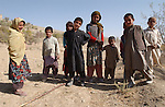 Paghman, Afghanistan; October 24, 2002 -- Children, boys and girls in a rural area; People, Landscape -- Photo: © HorstWagner.eu