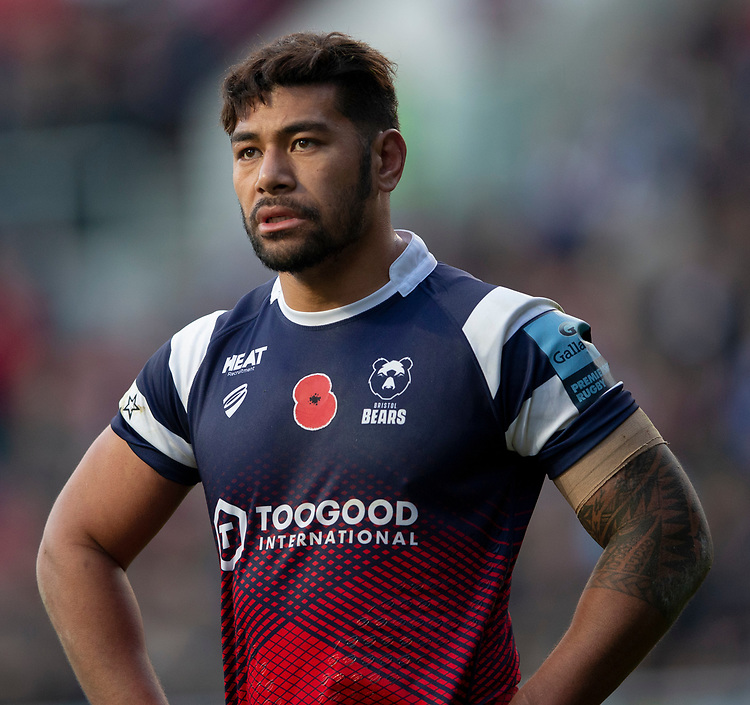 Bristol Bears' Charles Piutau<br /> <br /> Photographer Bob Bradford/CameraSport<br /> <br /> Gallagher Premiership Round 7 - Bristol Bears v Exeter Chiefs - Sunday 18th November 2018 - Ashton Gate - Bristol<br /> <br /> World Copyright © 2018 CameraSport. All rights reserved. 43 Linden Ave. Countesthorpe. Leicester. England. LE8 5PG - Tel: +44 (0) 116 277 4147 - admin@camerasport.com - www.camerasport.com