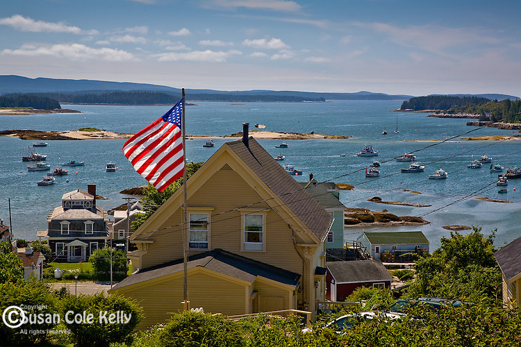 Patriotic home on Stonington Harbor, Stonington, ME