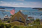 Patriotic home on Stonington Harbor, Stonington, ME
