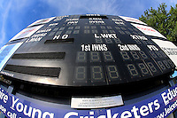 General view of the scoreboard ahead of Leicestershire CCC vs Essex CCC, Specsavers County Championship Division 2 Cricket at the Fischer County Ground, Grace Road on 23rd August 2016