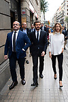 Cayetana Álvarez de Toledo, Alejandro Fernandez and Pablo Casado, president of the Popular Party, visit the police headquarters to support them and take interest in the injured agents<br /> October 21, 2019. <br /> (ALTERPHOTOS/ David Jar)