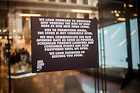 """The new Nike store in Soho in New York sees its opening delayed due to unspecified """"permitting issues"""", seen on Sunday, November 13, 2016. (© Richard B. Levine)"""