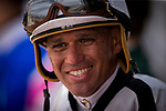 ARCADIA, CA - APRIL 07: Jockey Javier Castellano at Santa Anita Park on April 07, 2018 in Arcadia, California.(Photo by Alex Evers/Eclipse Sportswire/Getty Images)